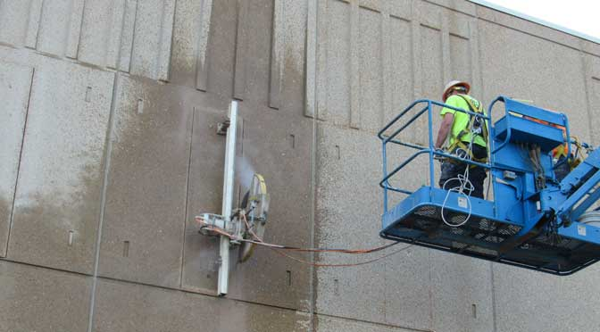 Wall Mount Concrete Saw : Concrete cutting precision and coring