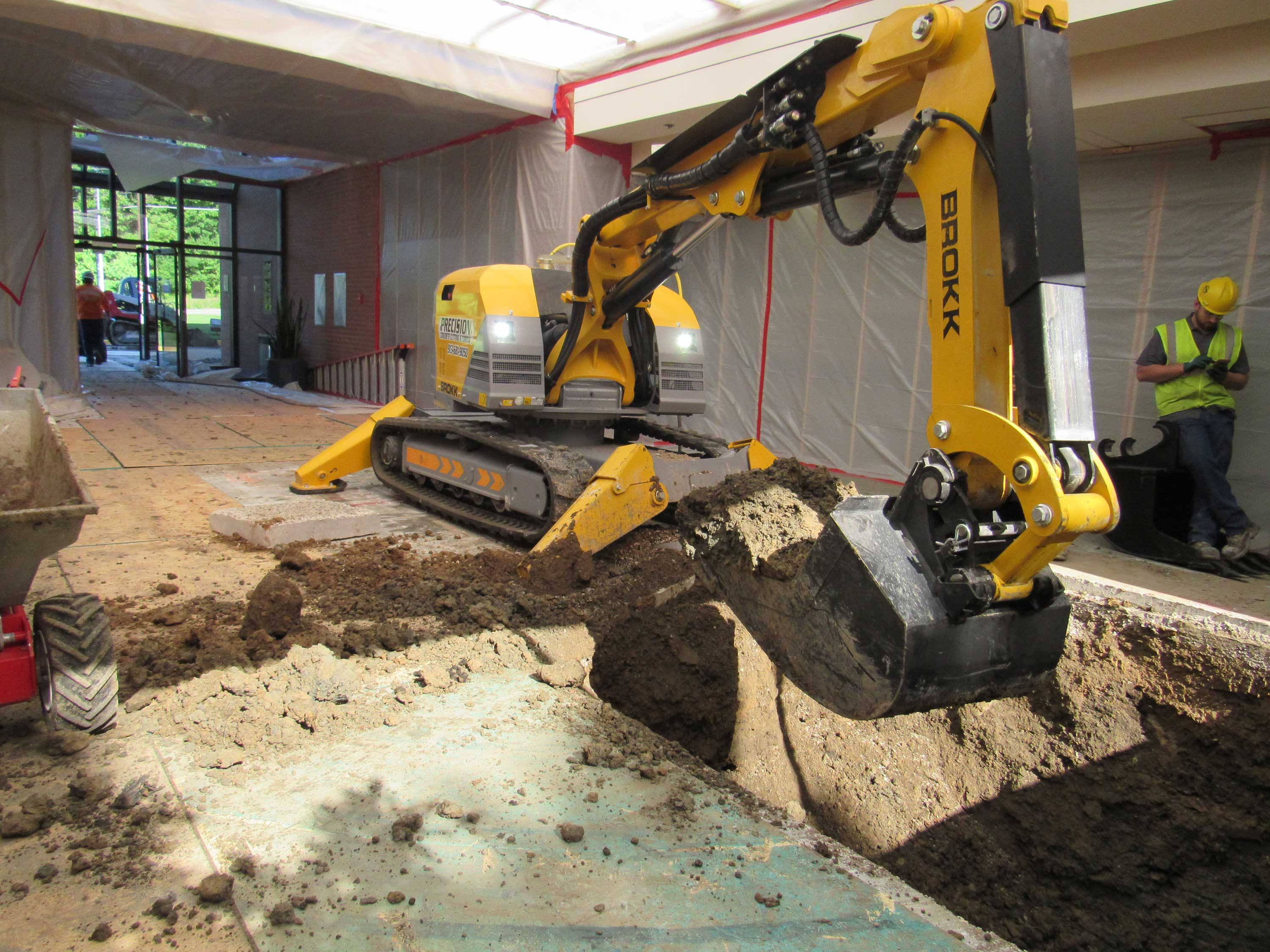 Plumbing excavation precision cutting and coring