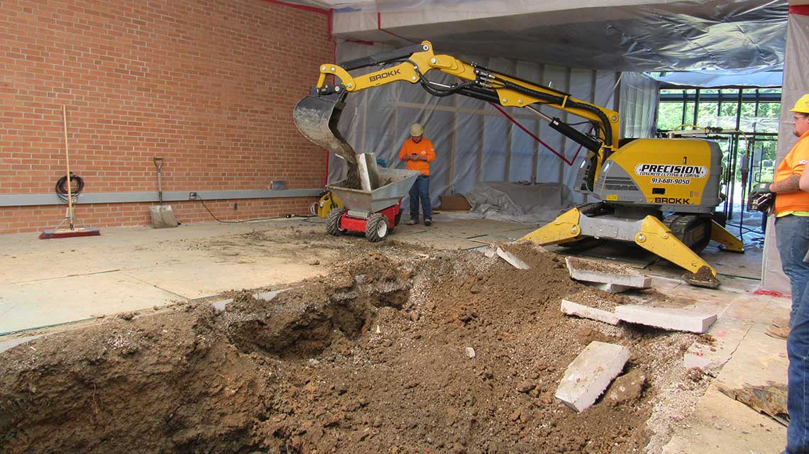 Plumbing excavation services precision cutting and coring